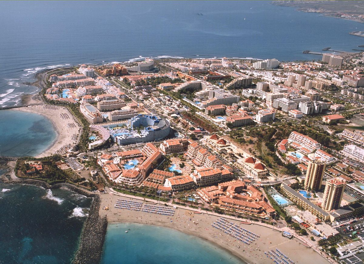 Vista aérea de Playa de Las Américas