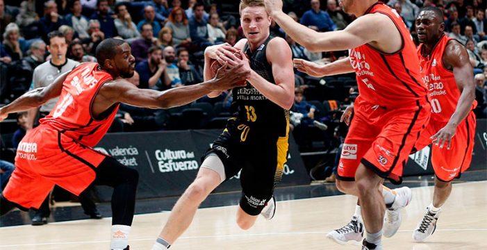 Una mala primera parte condena al Iberostar Tenerife ante el Valencia Basket
