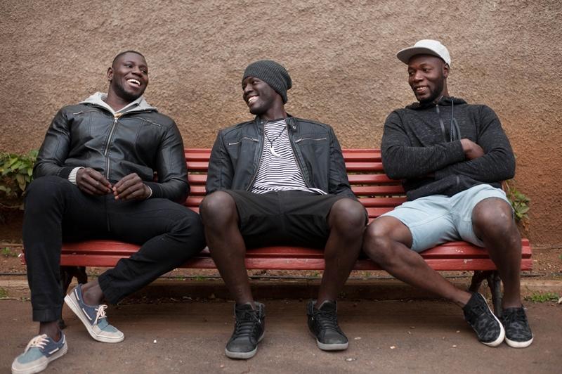 Mahamadou 'Camara',  Cheikne Samoura y Elhadij Diouf