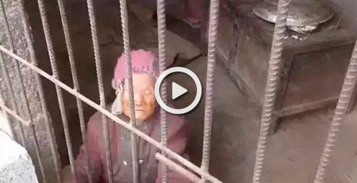 Liberan en china a una mujer de 92 años a la que su hija mantenía encerrada en un calabozo