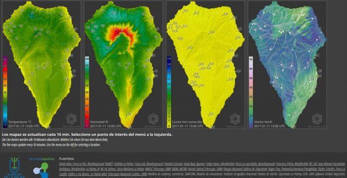 Nace un portal web con información meteorológica en vivo