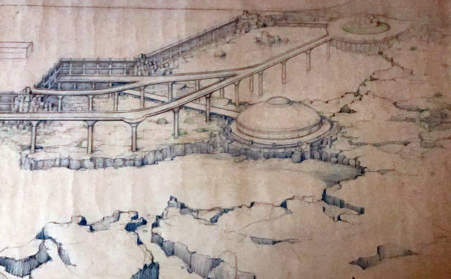Proyecto de Luis Morera del Parque Marítimo del aeropuerto de Mazo