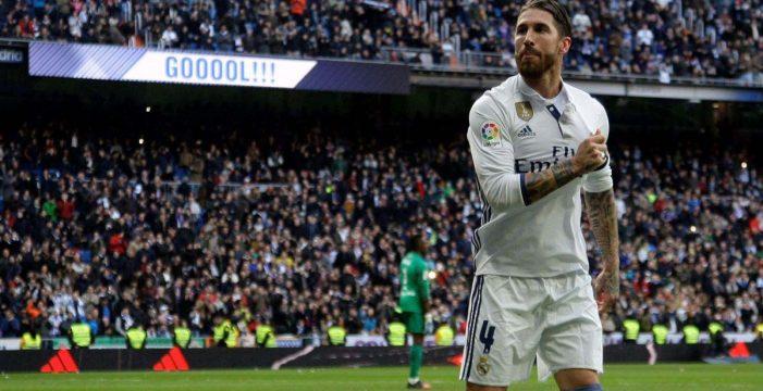 Ramos, con un doblete, da la victoria al Madrid sobre el Málaga (2-1)