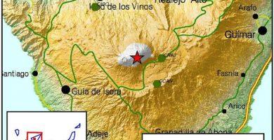 Terremoto de magnitud 3 en el Teide