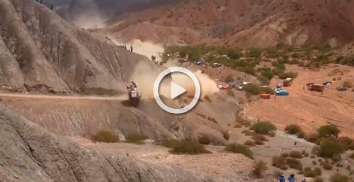 Impactante accidente de Carlos Sainz en el Dakar 2017