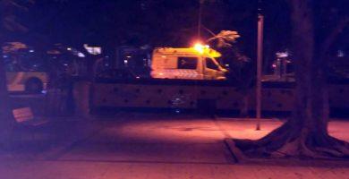 Cinco heridos en una colisión entre un coche y una guagua en Santa Cruz de Tenerife