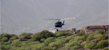 Se reactivan las quejas contra las maniobras de helicópteros militares en el Valle de Güímar
