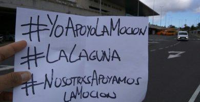 Partidarios de la moción de censura en La Laguna se movilizan en redes sociales