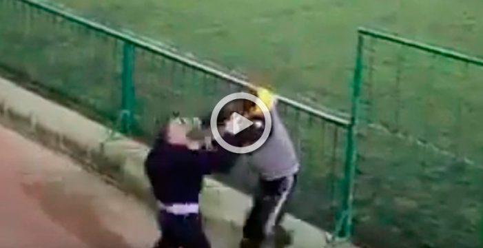 Brutal pelea entre padres en un partido de juveniles en Telde