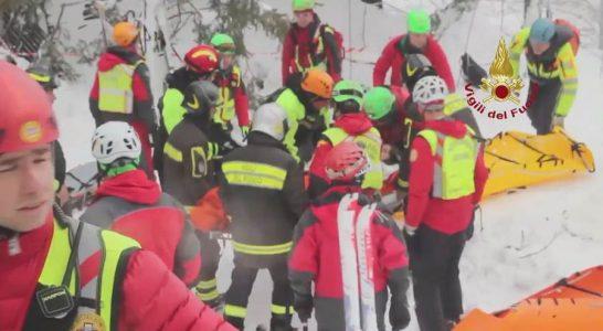 Ya son cinco las personas rescatadas del hotel sepultado en Italia