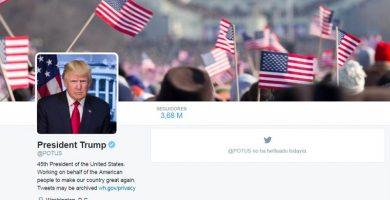 Trump desembarca en el Twitter oficial de la Casa Blanca y del presidente