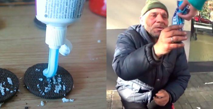 Nueva polémica con un 'youtuber': galletas con dentrífico a un indigente