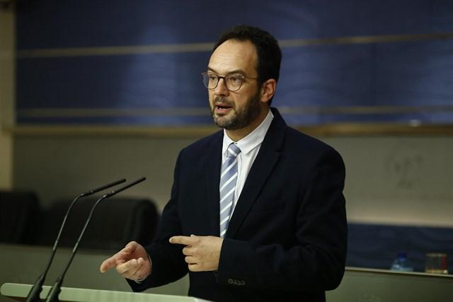 Antonio Hernando, portavoz parlamentario del PSOE   EUROPA PRESS