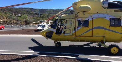 El Gobierno utiliza los helicópteros  de emergencias para el seguimiento de  una crisis que Clavijo niega