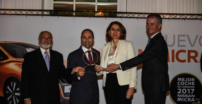 Nissan Micra recibe el premio Mejor Coche de Canarias 2017