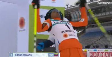 Adrián Solano se convierte en el nuevo 'Moussambani', pero de invierno
