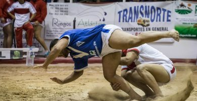 final lucha Tijarafe Guanche Tegueste
