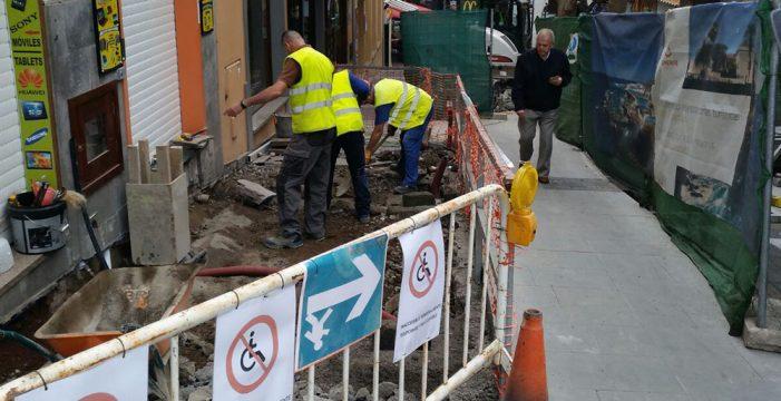 La obra de la calle Quintana estará terminada el día 28