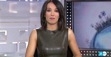 La presentadora de Deportes de Telecinco, 'pillada' con el micro abierto