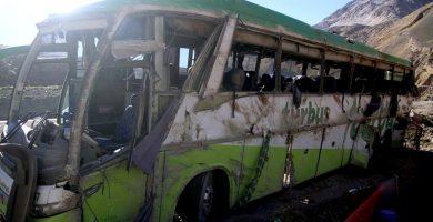 Al menos 19 muertos en Argentina al volcar un autobús de pasajeros cerca del Aconcagua