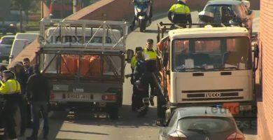Detenido a tiros por robar un camión de butano y circular en dirección contraria por Barcelona