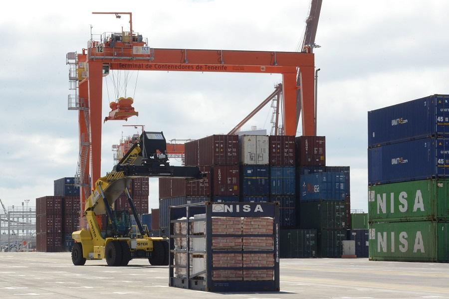 El salario medio anual de un estibador está en unos 60.000 euros; en la imagen, el puerto de Santa Cruz. DA