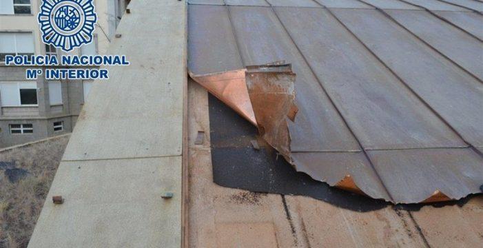 Detenidos por robar y vender planchas de cobre del centro de congresos de Puerto de la Cruz