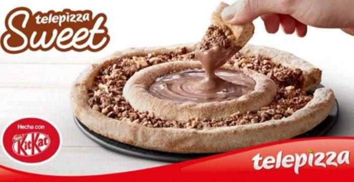 KitKat y Telepizza se unen y crean una 'locura' de pizza