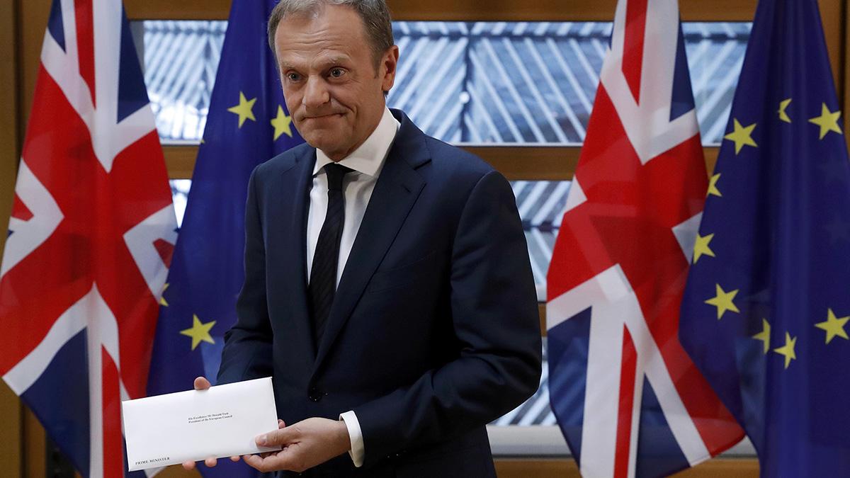 Reino unido activa el proceso para abandonar la uni n europea for Presidente del consejo europeo