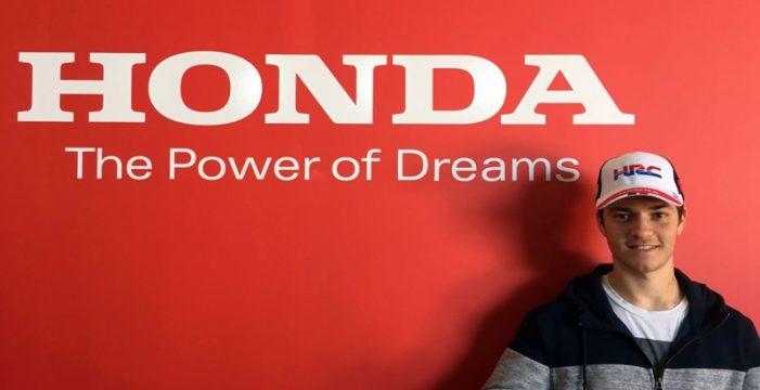 Bruno Darias, piloto oficial de Honda Canarias