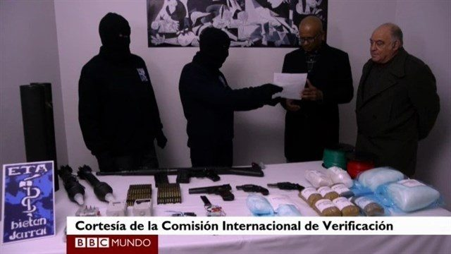ETA quedará desarmada el 8 de abril con la entrega de cientos de armas y explosivos
