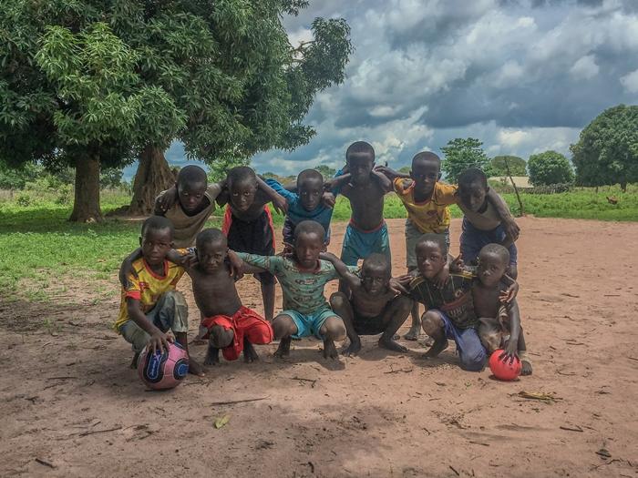 Los niños de Jalokoto contarán con su escuela deportiva. Cedida