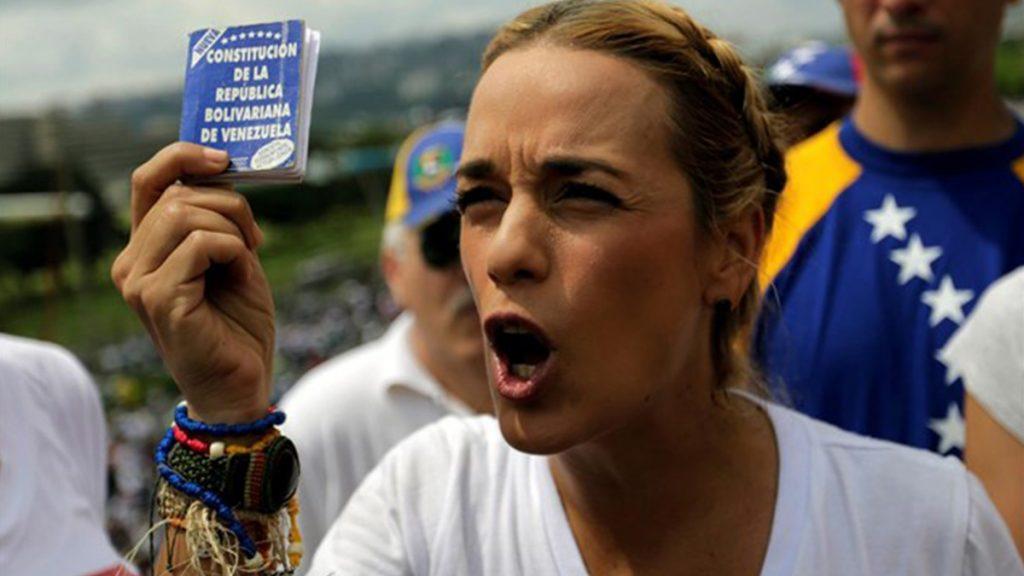 Lilian Tintori, mujer de Leopoldo López. EUROPA PRESS