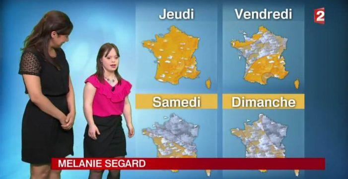 La joven francesa con síndrome de down cumplió su sueño de presentar el tiempo