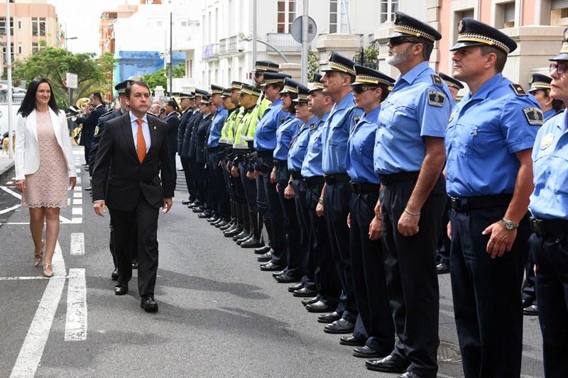 Plantilla de la Policía Local de Santa Cruz de Tenerife. Sergio Méndez
