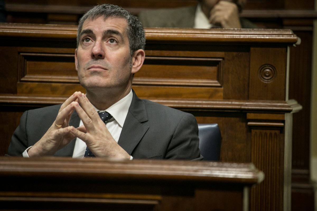 Pleno del 19 de enero de 2017, tras la ruptura del pacto CC-PSOE. / ANDRÉS GUTIÉRREZ