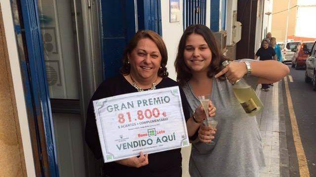 La Bonoloto reparte 81.800 euros en Adeje
