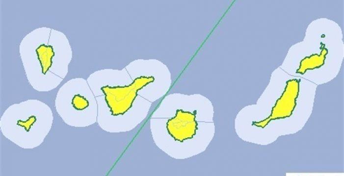 La Aemet decreta el riesgo amarillo por lluvias para este sábado