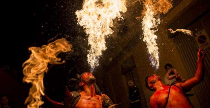 Las Burras de Güímar, teatro de color y fuego