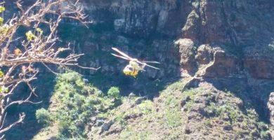 Rescatada una senderista herida en el barranco de Masca