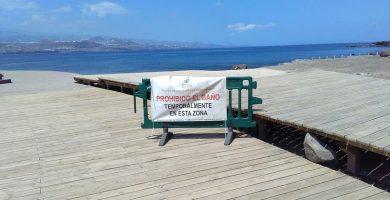 Cerrada temporalmente la Playa de El Confital de Las Palmas de Gran Canaria por contaminación