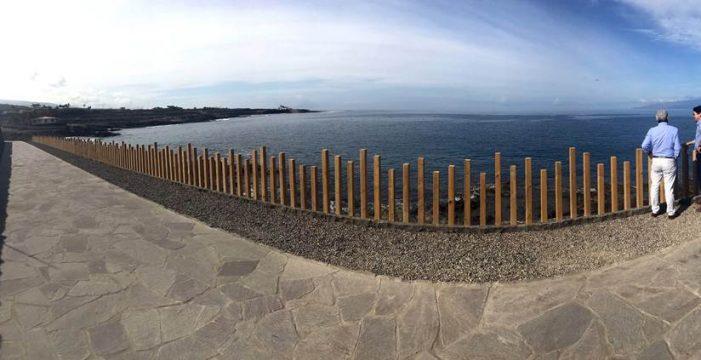 Finalizan las obras de las dos primeras fases del paseo costero de Punta Blanca