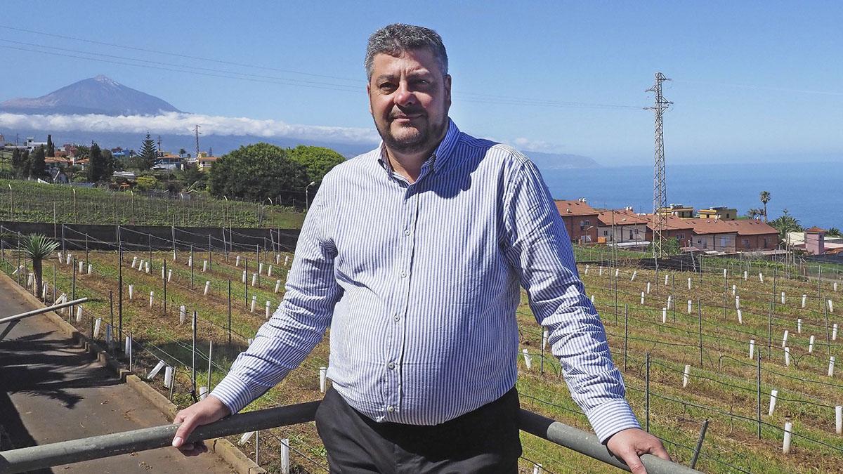 Esteban Reyes, presidente de la DO Tacoronte-Acentejo, que agrupa a más de 500 viticultores. J. L. C.