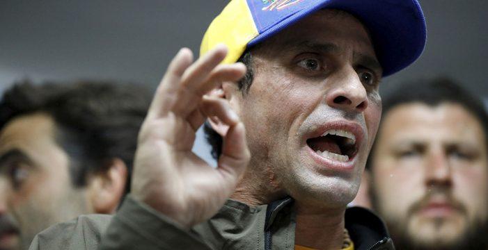 Capriles es inhabilitado para ejercer cargos públicos los próximos 15 años