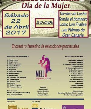La I Luchada Institucional con motivo del Día de la Mujer, en Gran Canaria