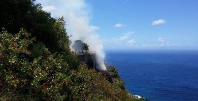 Detectan un incendio por quema de rastrojos en El Sauzal, Tenerife
