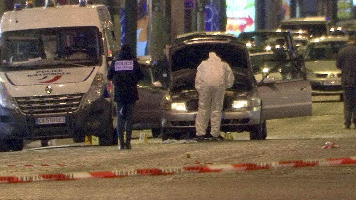 Vehículo utilizado para el atentado. REUTERS