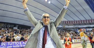 El italiano celebra una victoria de su equipo. ALESSANDRO SCARPA