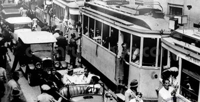 Atraco homicida al viejo tranvía en la Curva de Gracia