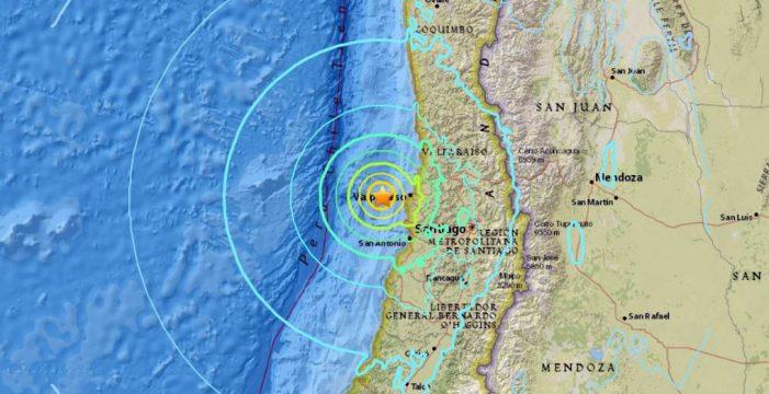 Un terremoto de magnitud 6,7 sacude la región de Valparaíso, en Chile